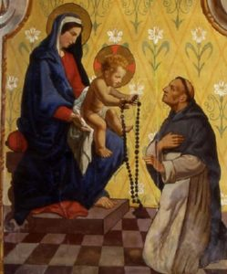 St Dominic Received the Rosary